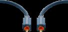 clicktronic Cinch-Koaxialkabel - 10 m - Blau
