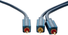 clicktronic Subwoofer-Kabel - 15 m - Blau
