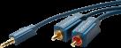 clicktronic MP3-Adapterkabel - 7.5 m - Blau