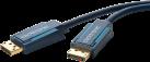 clicktronic DisplayPort-Kabel - 7.5 m - Blau