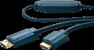 clicktronic Câble-DisplayPort/HDMI - 1 m - Bleu
