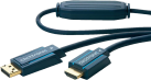 clicktronic DisplayPort/HDMI-Kabel - 7.5 m - Blau
