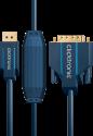 clicktronic DisplayPort/DVI - 1 m - Blau