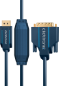 clicktronic DisplayPort/DVI - 5 m - Blau