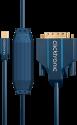 clicktronic Mini DisplayPort/DVI - 1 m - Blau