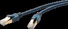 clicktronic CAT6a - 0.5 m - Blau