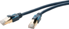 clicktronic CAT6a - 1 m - Blau
