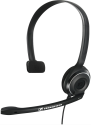 SENNHEISER PC 7 USB - Einseitiges On-Ear Headset - Plug & Play - Schwarz