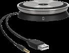 SENNHEISER SP 20 ML - High-End-Freisprecheinrichtung - für professionelle Nutzer in Unified Communications-Umgebungen - Schwarz/Silber
