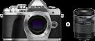 OLYMPUS OM-D E-M10 Mark III - Spiegellose Systemkamera - Body + Objektiv (M.ZUIKO DIGITAL ED 14‑150mm 1:4.0‑5.6 II) - Silber
