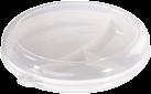 xavax Assiette pour micro-ondes avec couvercle