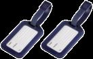 hama Gepäckanhänger, 2er-Set, dunkelblau