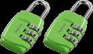 hama cadenas à combinaison pour bagage, lot de 2, vert