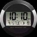 hama PP-245 - Orologio radiocontrollato da parete DCF - Visualizzazione del tempo digitale - Nero/Grigio
