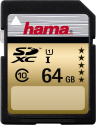 hama High Speed Gold SDXC Flash-Speicherkarte, 64 GB