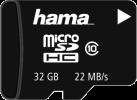 hama microSDHC Class 10 - Speicherkarte - 32 GB - Schwarz