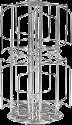 xavax 111170 - Porte-capsules à café Rondello pour capsules Tassimo - Argent
