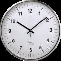 hama AG-340 - Horloge murale - Aluminium - Argent