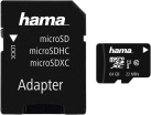hama microSDXC UHS-I + Adapter/Mobile - Speicherkarte - 64 GB - Schwarz