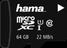 hama microSDXC - Speicherkarte - Kapazität 64 GB - Schwarz