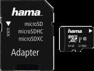 hama microSDXC UHS-I + Adapter/Foto - Speicherkarte - 64 GB - Nero