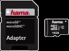 hama Carte microSDHC 16 Go Classe 10 UHS-I 45 Mo/s + Adaptateur/Mobile