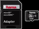 hama Carte microSDHC 32 Go Classe 10 UHS-I 45 Mo/s + Adaptateur/Mobile