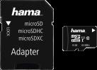 hama microSDHC Class 10 UHS-I 8 GB + Adapter - Carte mémoire - Noir