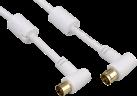 hama 122420 - Câble d'antenne, Coax mâle - Coax femelle - 5 m - Blanc