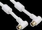 hama Antennen-Kabel, Koax-Stecker - Koax-Kupplung, 90°, 95 dB, 10 m