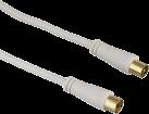 Hama Câble d'antenne - Fiche coaxiale vers prise coaxiale - 1.5 m - Blanc