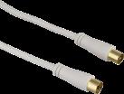 Hama Antennen-Kabel Koax-Stecker - Koax-Kupplung - 15 m - Weiss