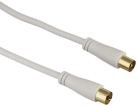hama Antennen-Kabel, Koax-Stecker - Koax-Kupplung, 90 dB, 20 m