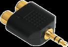 hama Adaptateur audio, Prise jack stéréo 3,5 mm - 2 RCA femelle stéréo
