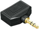 hama Audio-Adapter, 3,5-mm-Klinken-Stecker - 2x 3,5-mm-Klinken-Kupplung