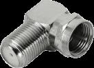 hama SAT-Adapter, F-Stecker - F-Kupplung, 90°