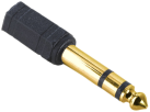 hama Audio-Adapter 6,3-mm-Klinken-Stecker, 3,5-mm-Klinken-Kupplung