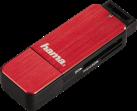 hama Kartenleser - SD/microSD - USB 3.0 - Rot/Schwarz