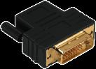 hama Adaptateur compact, fiche DVI-D - HDMI™ - prise, noir