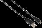 hama Câble de charge Basic - pour PS4 - 1.5 m - noir
