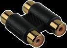 hama Cinch-Adapter, 2 Cinch-Kupplungen - 2 Cinch-Kupplungen