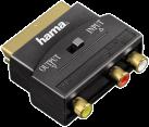 hama Adaptateur A/V, 3 RCA femelle - péritel mâle