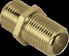 hama SAT-Adapter, F-Kupplung - F-Kupplung, vergoldet