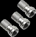 hama F-Stecker, 6,5 mm, schraubbar, 3 Stück