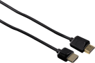 hama High Speed HDMI-Kabel Flexi-Slim - Stecker - 5 m - Schwarz