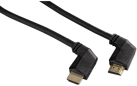 hama High Speed HDMI™-Kabel, 90°, Ethernet, 1.5 m