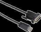 hama Verbindungskabel, HDMI™-Stecker - DVI/D-Stecker, 1.5 m