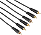 hama Câble audio-vidéo, 3 fiches RCA – 3 fiches RCA, 1,5 m
