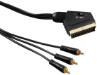 hama Video-Kabel Scart-Stecker - 3 Cinch-Stecker (Video/Stereo), 1.5 m
