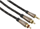hama Audio-Kabel, 3,5-mm-Klinken-St. - 2 Cinch-St., 1.5 m
